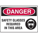 Seton 74801 Danger Signs - Safety Glasses Required In This Area