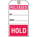 Seton 74925 Quality Control Action Tags-Released/Hold