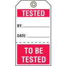 Seton 74927 Quality Control Action Tags- Tested/To Be Tested