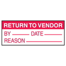 Seton 75478 Return to Vendor By Date Reason Write On Labels