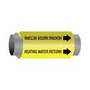 Ultra 76132 Ultra-Mark Self-Adhesive High Performance Pipe Markers - Heating Water Return