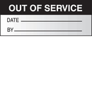 Seton 76822 Out Of Service Date By Write On Self Debossing Labels