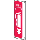 Seton 77003 Fire Extinguisher 2-Way View Fire Safety Signs