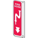 Seton 77005 Fire Hose 2-Way View Fire Safety Signs