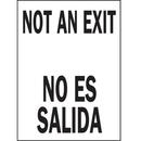 Seton 77031 Not An Exit / No Es Salida Bilingual Safety Signs