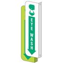 Seton 77184 2-Way View Eye Wash Sign