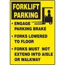Seton Forklift Parking Traffic Signs