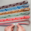 Seton 77645 Stock Printed Breakaway Lanyards - Temporary
