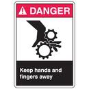 Seton 77917 ANSI Z535 Safety Labels - Danger Keep Hands And Fingers Away