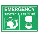 """Seton 78461 Emergency Shower & Eye Wash Signs - 14""""W x 10""""H"""