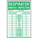 Seton 79592 Respirator Monthly Safety Inspection Labels