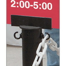 Seton 79635 Stanchion Sign Adapter - Black