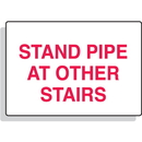 Seton 80342 Stand Pipe At Other Stairs Aluminum Sprinkler Control Sign