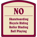 Seton Designer Property Signs - No Skateboarding