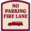Seton Designer Property Signs - No Parking Fire Lane