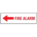 Seton 81083 Fire Alarm with Left Facing Arrow - Directional Signs