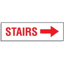 Seton 81089 Stairs with Right Facing Arrow - Directional Signs