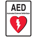 Seton 81749 1-Way View AED Sign - Automated External Defibrillator