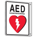 Seton 81750 2-Way View AED Sign - Automated External Defibrillator