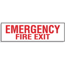 Seton 81781 Emergency Fire Exit Directional Signs