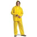 Seton 81886 Safety Today PVC 3-Piece Rain Suit, Size: Small