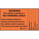 Seton 82802 2-Part Parking Violation Labels - Warning No Parking Area