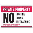 Seton Property Security Signs - No Hunting