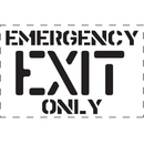 Seton 83817 Emergency Exit Only - Fire & Exit Equipment Stencil