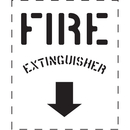 Seton 83823 Fire Extinguisher with Down Arrow - Fire & Exit Equipment Stencil