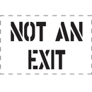 Seton 83826 Not An Exit - Fire & Exit Equipment Stencil