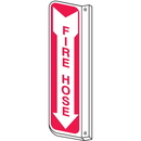 Seton 84542 Fire Hose 2-Way View Fire Safety Signs