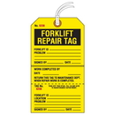 Seton 84602 Jumbo Cardstock Tear-Off Safety Tags - Forklift Repair Tag