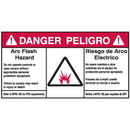Seton 84623 NEC Arc Flash Protection Labels - Bilingual - Arc Flash Hazard / Riesgo De Arco Electrico