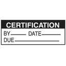 Seton 84726 Certification By Date Due Write On Status Labels