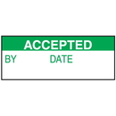 Seton 84730 Accepted By Date Write On Status Labels