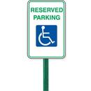 "Seton 84912 12"" x 18"" Symbol Of Access Parking Sign Kit - Reserved Parking"