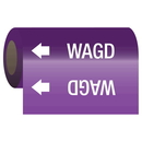 Seton 84933 Gas Self-Adhesive Pipe Markers-On-A-Roll - Wagd