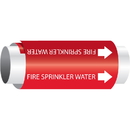Setmark 85002 Setmark Snap-Around Pipe Markers - Fire Sprinkler Water