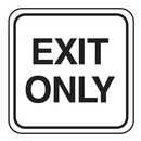 Seton 85438 Mini Traffic Signs - Exit Only