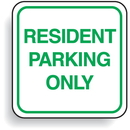 Seton 85448 Mini Parking Signs - Resident Parking Only