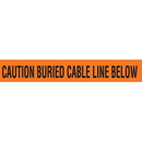 Seton 85494 Detectable Underground Warning Tape - Caution Buried Cable Line Below