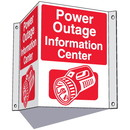 Seton 3-Way Information Center Signs- Power Outage