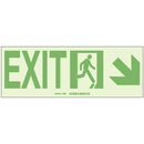 Seton 85564 Brady Hi-Intensity Photoluminescent Signs - Exit with Right Lower Arrow