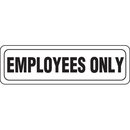 Seton 85778 Interior Decor Security Signs - Employees Only