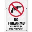 Seton 85836 Clear Security Labels - No Firearms