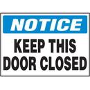 Seton 85848 Security & Door Labels- Door Closed