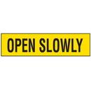 Seton Security & Door Labels- Open Slowly - 85863