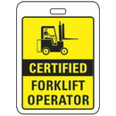 Seton 86184 Specialty ID Badges - Certified Forklift