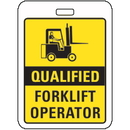 Seton 86187 Specialty ID Badges - Qualified Forklift Operator