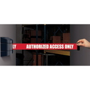 Seton 86988 Wall Mount Security Tensabarriers- Authorized Access Only 897-15-S-33-NO-RAX-C